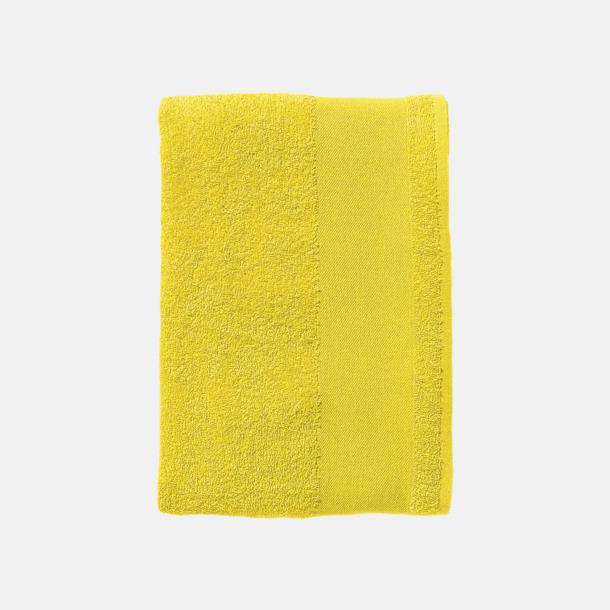 Lemon Stora badlakan i terry bomull med reklamlogo
