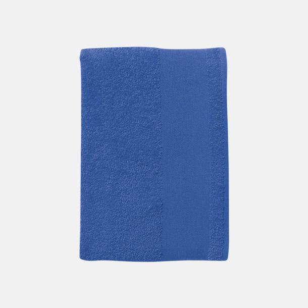 Royal Blue Stora badlakan i terry bomull med reklamlogo