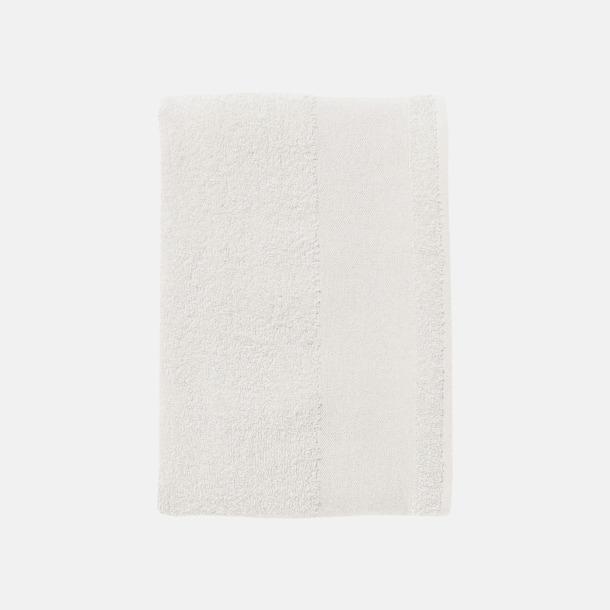 Vit Stora badlakan i terry bomull med reklamlogo