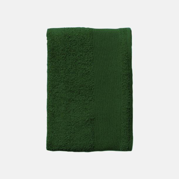 Bottle Green Badhanddukar i terrybomull med reklamlogo