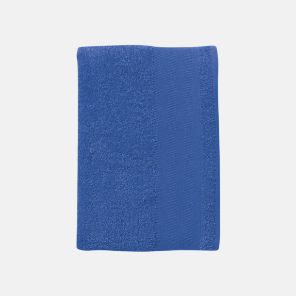 Royal Blue Badhanddukar i terrybomull med reklamlogo