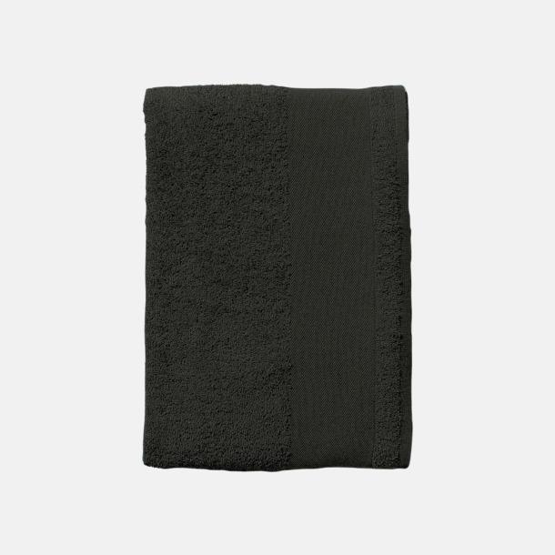 Svart Små handdukar med reklamlogo