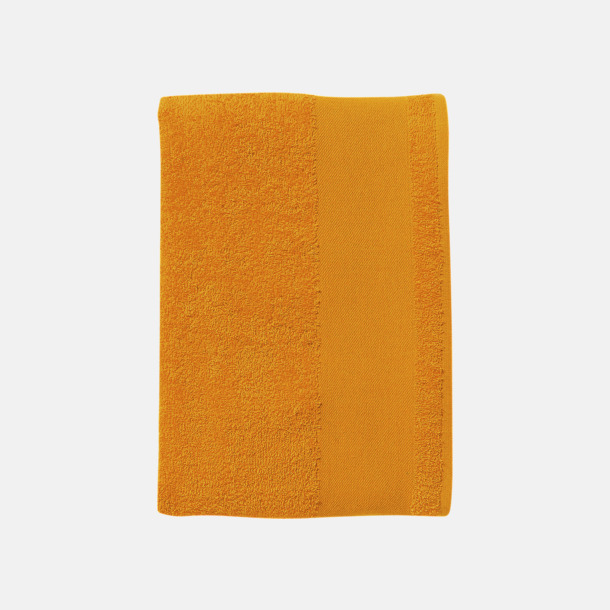Orange Små handdukar med reklamlogo