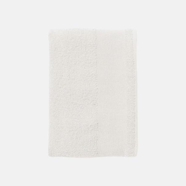 Vit Terrybomull badhanddukar med reklamtryck