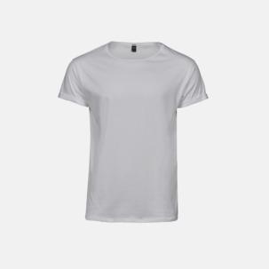 T-shirts med roll-up ärmar med reklamtryck