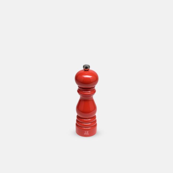 18 cm (Rouge Coquelicot) Exklusiva peppar- & saltkvarnar från Peugeot med reklamlogo