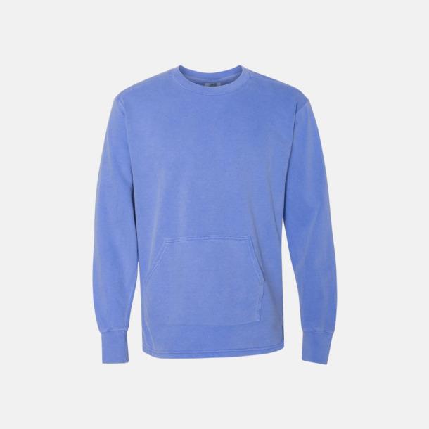 Flo Blue Fina sweatshirts i unisex med reklamtryck