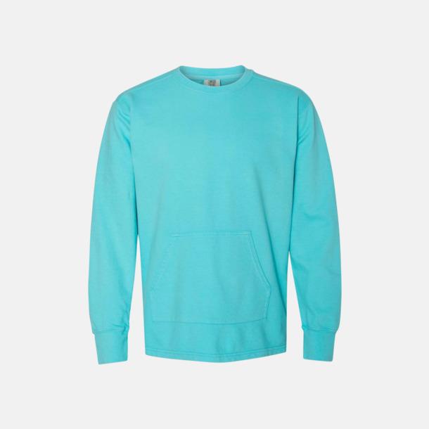 Lagoon Blue Fina sweatshirts i unisex med reklamtryck