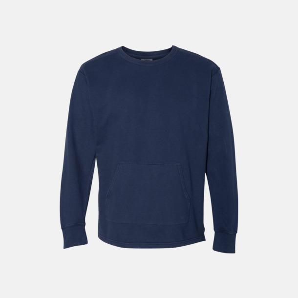 True Navy Fina sweatshirts i unisex med reklamtryck