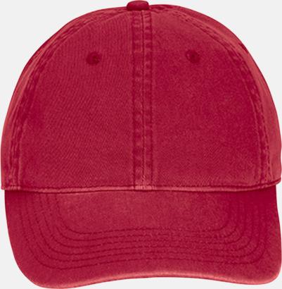 Röd (direct dye) Kepsar i 2 varianter med reklamlogo
