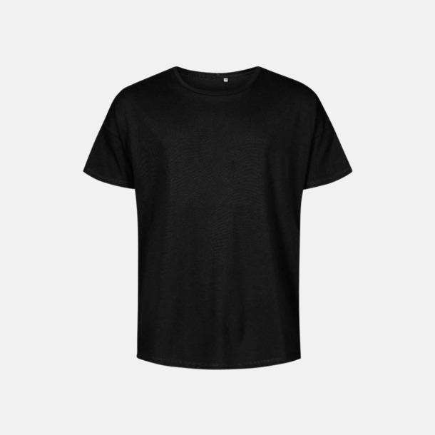 Svart (herr) Extra stora t-shirts med reklamtryck