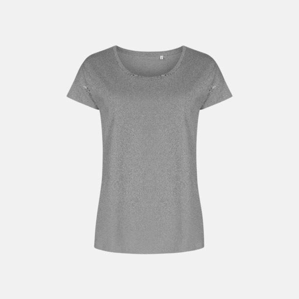 Steel Grey solid (dam) Extra stora t-shirts med reklamtryck
