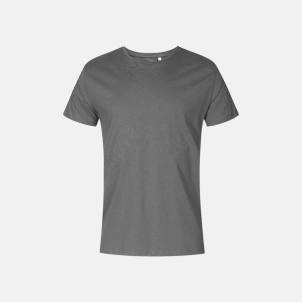 Steel Grey solid (herr) Extra stora t-shirts med reklamtryck