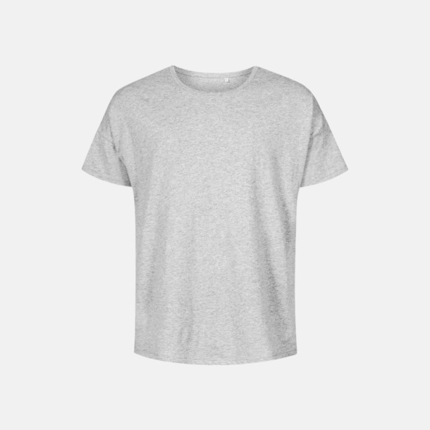 Heather Grey (herr) Extra stora t-shirts med reklamtryck
