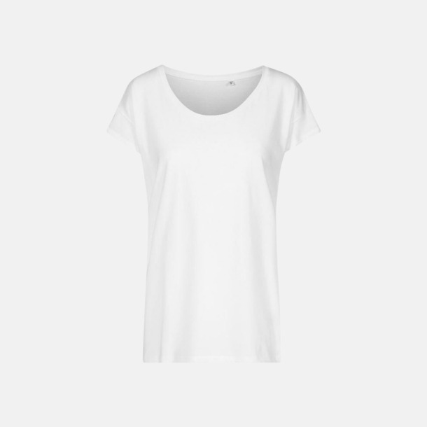 Vit (dam) Extra stora t-shirts med reklamtryck