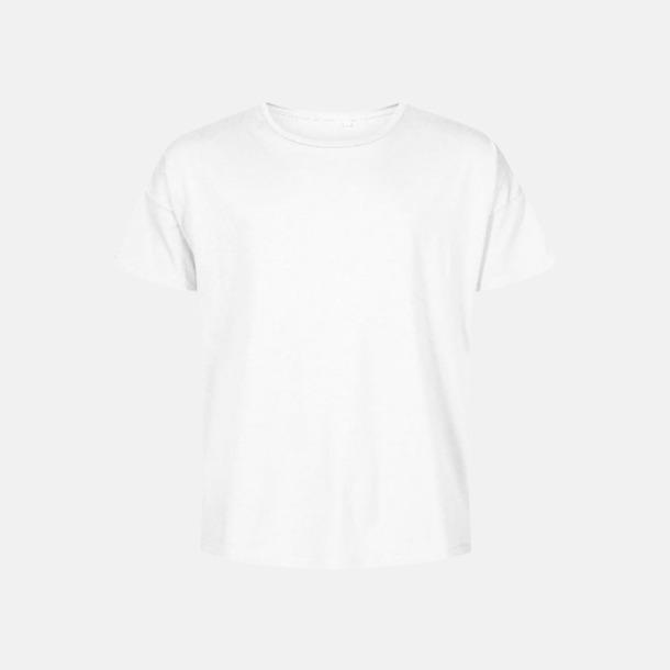 Vit (herr) Extra stora t-shirts med reklamtryck