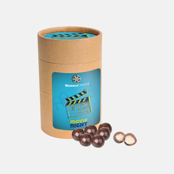 Marsipan doppad i mörk choklad med reklamtryck