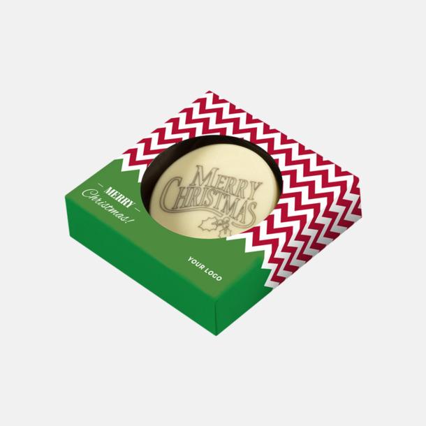 1-pack Vit choklad med julhälsning - med reklamtryck
