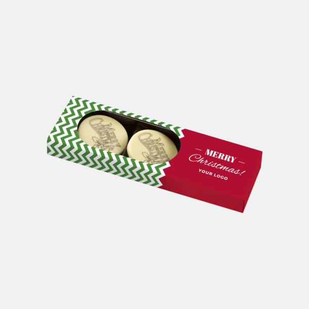 3-pack Vit choklad med julhälsning - med reklamtryck
