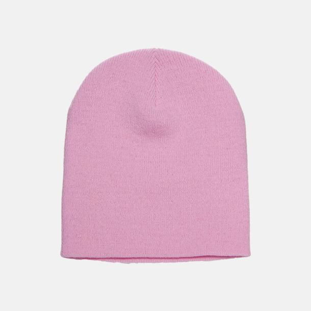 Baby Pink standard (2) Normallånga eller långa beanies med reklamlogo