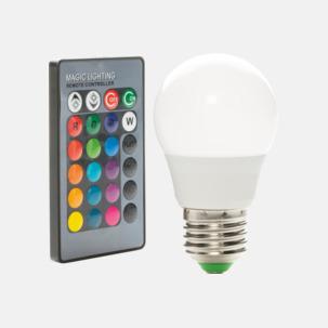 Glödlampa som kan ändra färg - med reklamtryck