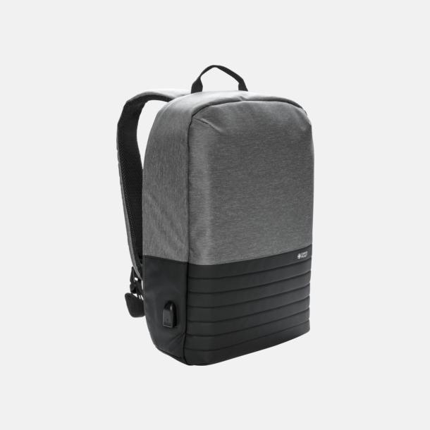 Grå / Svart Säkra ryggsäckar från Swiss Peak med reklamtryck