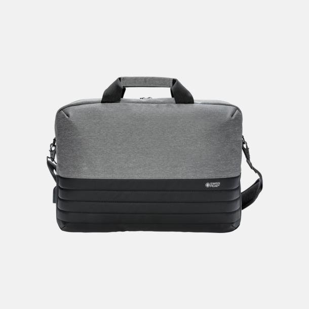 Framsida Fina laptopväskor från Swiss Peak med reklamtryck