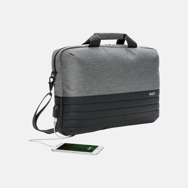 Fina laptopväskor från Swiss Peak med reklamtryck