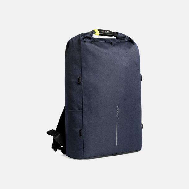 Marinblå Urbana, säkra ryggsäckar med reklamtryck