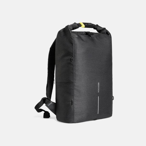 Svart Urbana, säkra ryggsäckar med reklamtryck