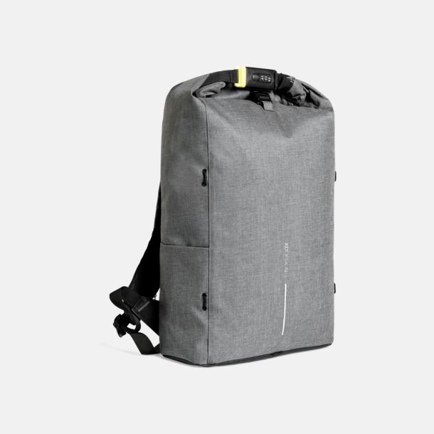 Grå Urbana, säkra ryggsäckar med reklamtryck