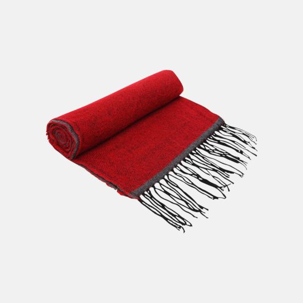 Röd Tvåfärgade halsdukar med reklamlogo