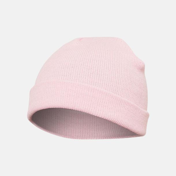 Baby Pink (standard) Normallånga eller långa beanies med reklamlogo