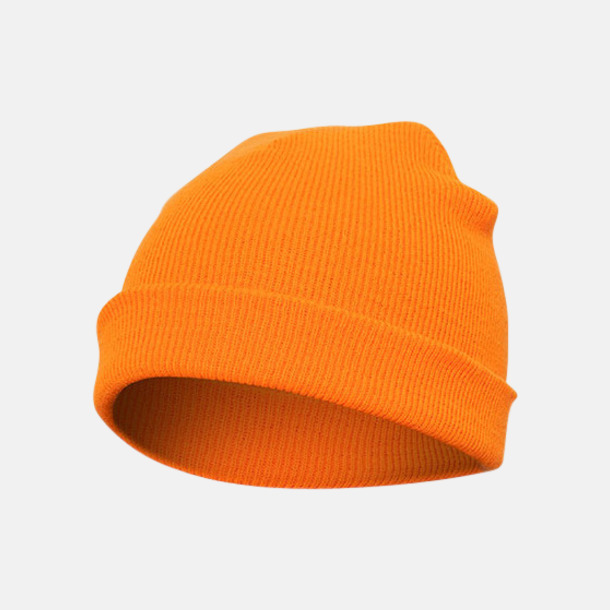 Blaze Orange (standard) Normallånga eller långa beanies med reklamlogo