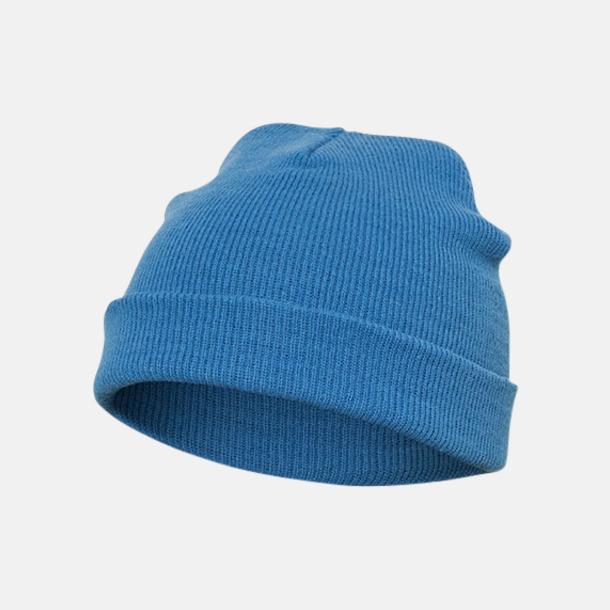 Carolina Blue (standard) Normallånga eller långa beanies med reklamlogo
