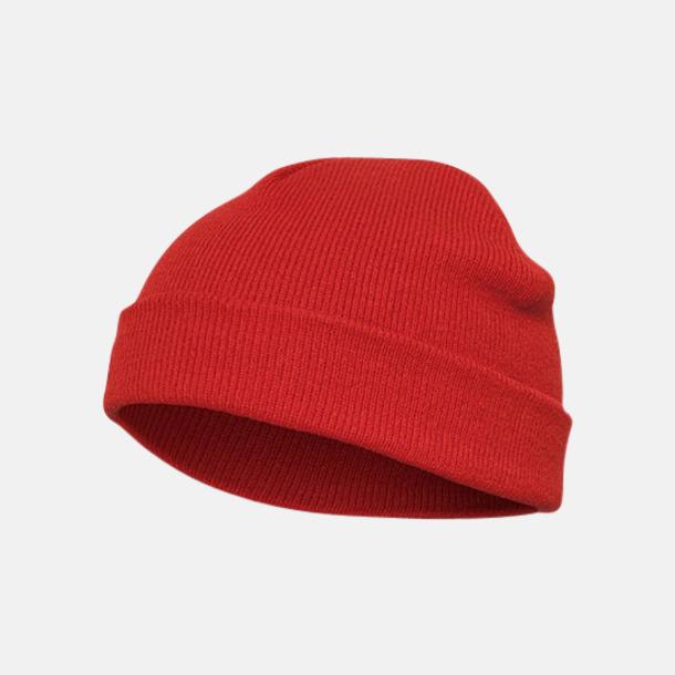 Röd (standard) Normallånga eller långa beanies med reklamlogo