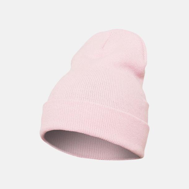Baby Pink (lång) Normallånga eller långa beanies med reklamlogo