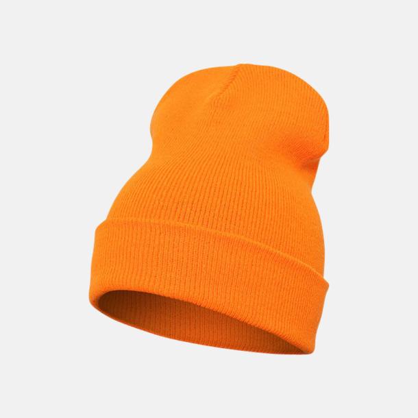 Blaze Orange (lång) Normallånga eller långa beanies med reklamlogo