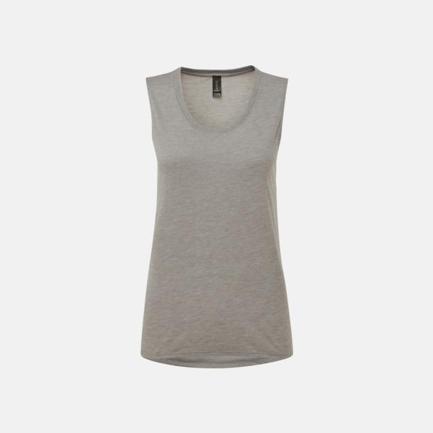Heather Graphite Stora, ärmlösa t-shirts med reklamtryck