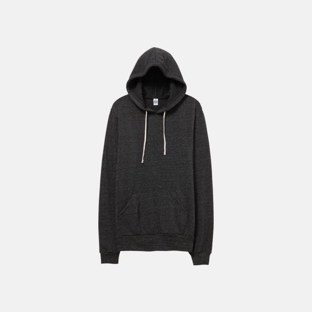 Eco Black Miljövänliga unisex fleece hoodies med reklamtryck