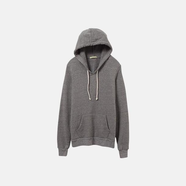 Eco Grey Miljövänliga unisex fleece hoodies med reklamtryck
