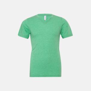 V-ringade triblend unisex t-shirts med reklamtryck