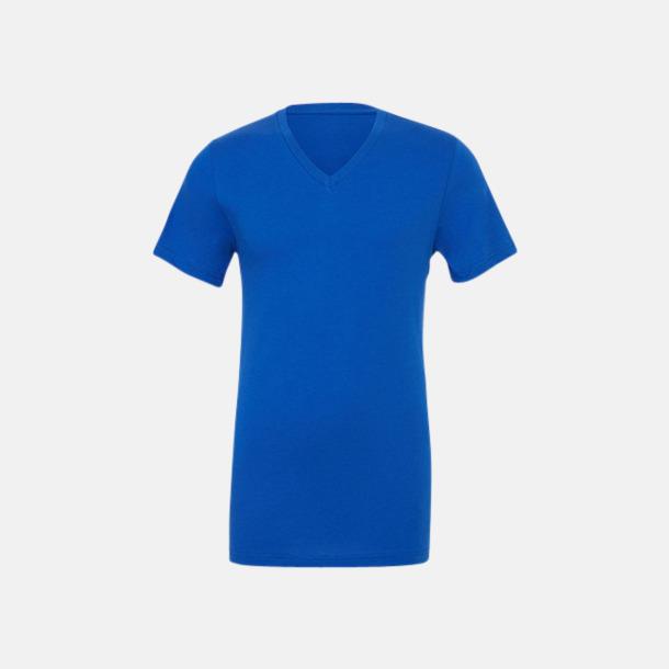 True Royal V-ringade jerseybomulls t-shirts med reklamtryck