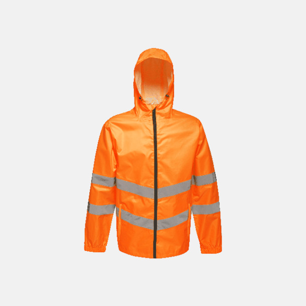 Orange Reflexförsedda jackor med reklamtryck