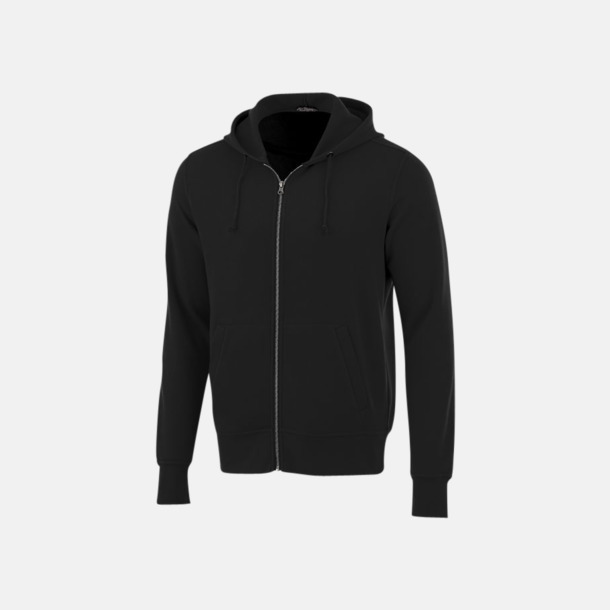 Svart Blixtlåsförsedda hoodies med reklamtryck