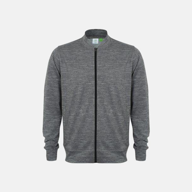 Grey Marl Herr träningströjor med reklamtryck