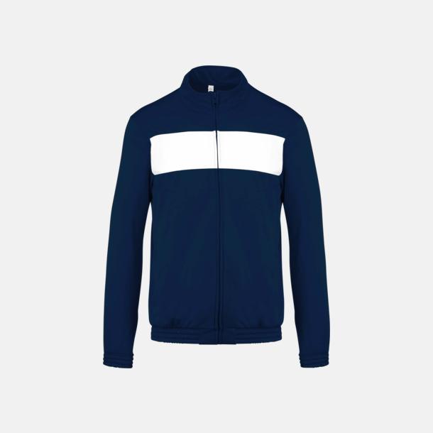 Sporty Navy/Vit Lagtröjor i funktionsmaterial med reklamtryck