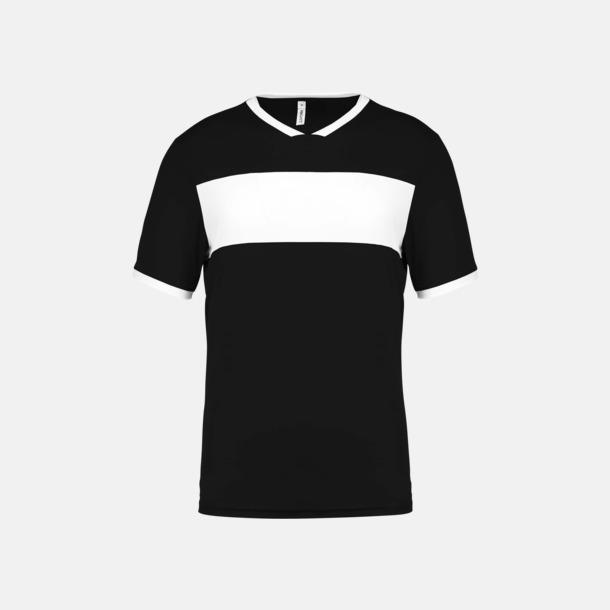 Svart / Vit Lag t-shirts i funktionsmaterial med reklamtryck