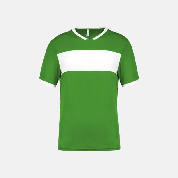 Grön / Vit Lag t-shirts i funktionsmaterial med reklamtryck