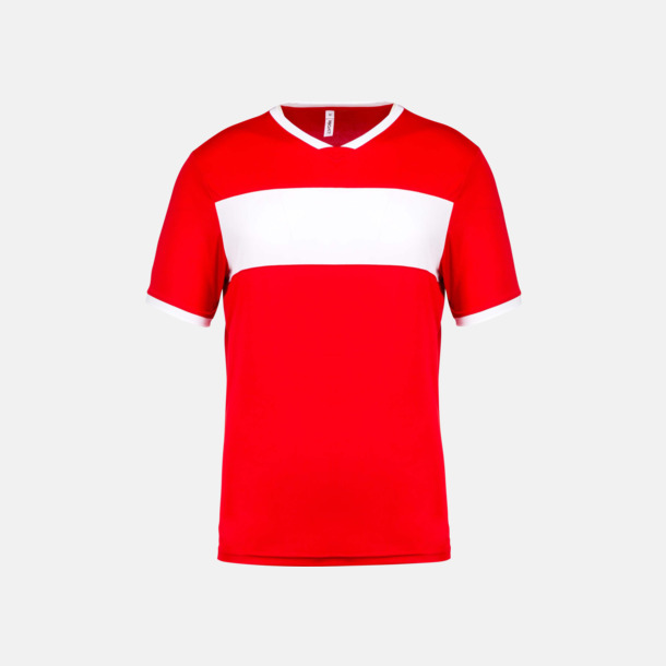 Sporty Red/Vit Lag t-shirts i funktionsmaterial med reklamtryck